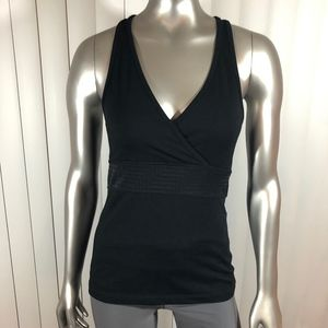 Zella Black Yoga Workout Tank with Built in Bra